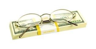 Dollari e punti per gli occhi Immagine Stock Libera da Diritti