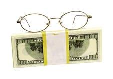 Dollari e punti per gli occhi Fotografia Stock