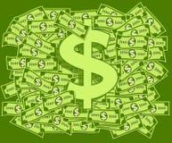 Dollari e simbolo del dollaro Fotografia Stock