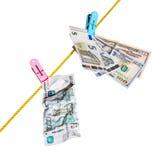 Dollari, euro e rubli Immagini Stock