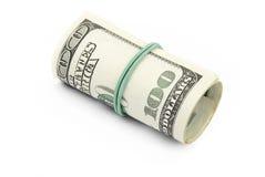 Dollari isolati Immagini Stock