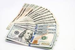 Dollari isolati Immagini Stock Libere da Diritti