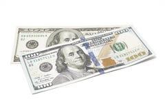 Dollari isolati su bianco Fotografia Stock