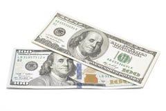 Dollari isolati su bianco Fotografia Stock Libera da Diritti