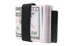 dollari isolati su fondo bianco Fotografia Stock
