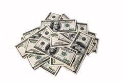 dollari isolati su fondo bianco Fotografie Stock