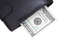Dollari nella borsa Fotografia Stock Libera da Diritti