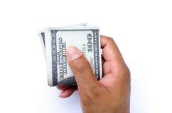 Dollari nella mano Immagini Stock Libere da Diritti