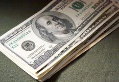 Dollari nella penombra Immagini Stock