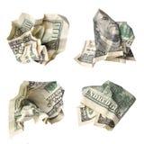 Dollari schiacciati Immagini Stock Libere da Diritti