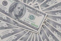 Dollari su fondo bianco Fotografie Stock Libere da Diritti