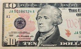 Dollari su fondo bianco Immagine Stock Libera da Diritti