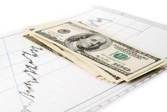 Dollari sul grafico Fotografie Stock