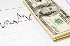 Dollari sul grafico Immagini Stock