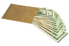 Dollari in una busta Immagini Stock