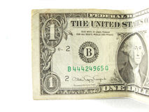 Dollari uno dei soldi di carta Fotografia Stock Libera da Diritti