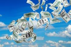 Dollari US di caduta Immagini Stock