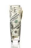 Dollari in vetro Immagini Stock Libere da Diritti