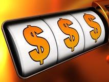 dollarjackpot Fotografering för Bildbyråer