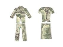 Dollarkleidung Lizenzfreie Stockfotografie
