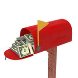 DollarMailbox Royalty Free Stock Photo