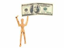 dollarman för 100 bill Arkivfoton