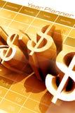 Dollarmarkierung Lizenzfreie Stockfotos