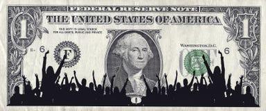 Dollarmenigte Royalty-vrije Stock Foto's