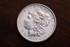dollarmorgan silver Arkivbild