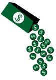 Dollarmyntask Fotografering för Bildbyråer
