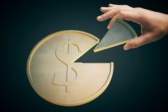Dollarmyntmörker arkivfoto