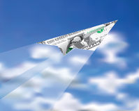 Dollarnivå royaltyfri illustrationer
