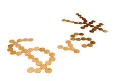 Dollaro americano contro Yen Immagini Stock