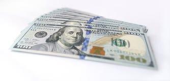 Dollaro americano su fondo bianco Fotografia Stock Libera da Diritti