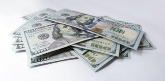 Dollaro americano su fondo bianco Fotografia Stock
