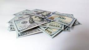 Dollaro americano su fondo bianco Immagine Stock