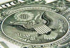 Dollaro - aquila fotografia stock libera da diritti