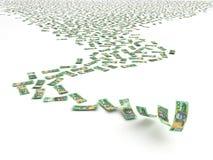 Dollaro australiano di caduta Fotografia Stock Libera da Diritti