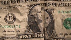 Dollaro Bill di struttura dei soldi Immagini Stock