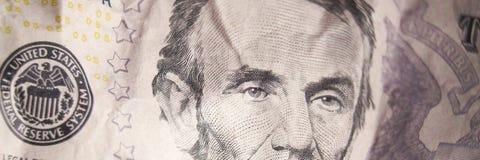 Dollaro Bill di struttura dei soldi Fotografia Stock