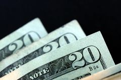 Dollaro Bill di valuta venti degli Stati Uniti. Immagine Stock