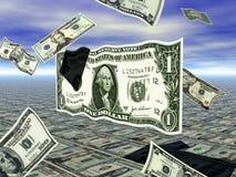 Dollaro Bill di volo Immagine Stock Libera da Diritti