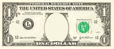 Dollaro Bill Illustration Vector dello spazio in bianco uno royalty illustrazione gratis