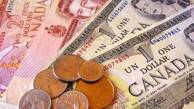 Dollaro canadese Fotografia Stock Libera da Diritti
