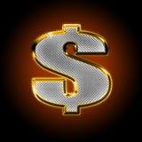 Dollaro con i diamanti Fotografie Stock Libere da Diritti