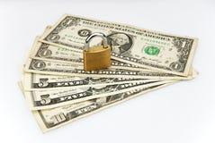 Dollaro con la serratura Fotografia Stock