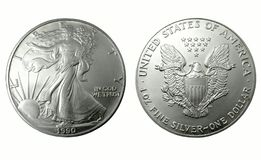 Dollaro d'argento americano Immagini Stock Libere da Diritti