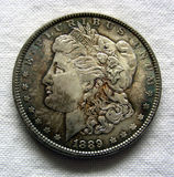 Dollaro d'argento del Morgan Immagine Stock