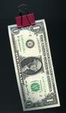 Dollaro d'attaccatura Immagini Stock