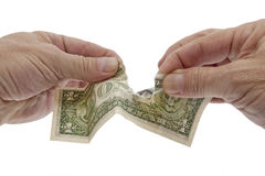 Dollaro debole, deprezzamento monetario Fotografie Stock Libere da Diritti